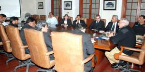 IGP addresing with a meeting held at CPO Lahore, with Delegation of Lahore Bar Association