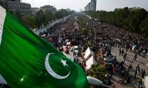 supporters of the cleric Tahir-ul-Qadri occupy the main avenue of Pakistan's capital, Islamabad.