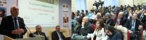 Saadat Party Chairman Prof. Dr. Mustafa Kamalak addressing the participants of Kashmir Solidarity Day Seminar at Ankara on Tuesday evening