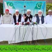 Opposing peace talks is against national interest :Siraj ul Haq