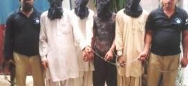 Faisal Town police busted Sagar dacoit gang