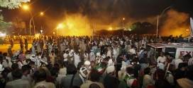 Islamabad turns into battlefield after mob attacked at Presidency