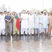 PTI protest in different areas of the city