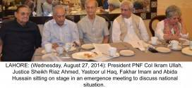 Pakistan National Forum demands army to play its role to end crisis