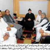 Ch Shujat Hussain calls on Dr Tahir ul Qadri
