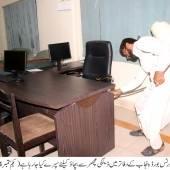 Anti-dengue spray in SBP offices