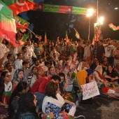 PTI staged protest in front of Governor House