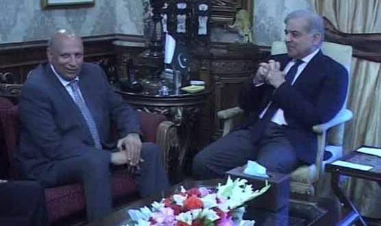 Ch Sarwar meets Chief Minister Punjab Muhammad Shahbaz Sharif