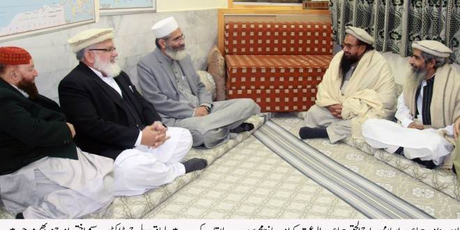 Siraj ul Haq,Hafiz Saeed discuss internal and foreign threats