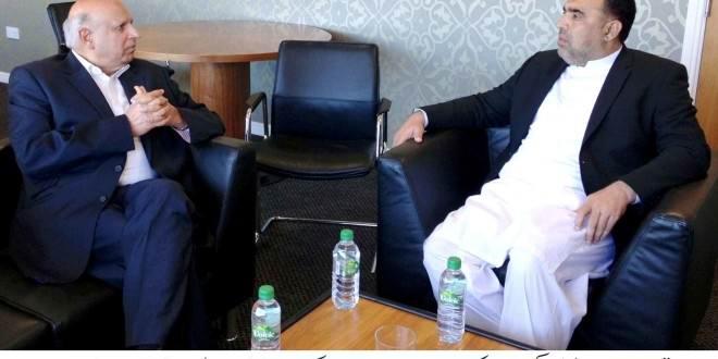 Speaker KPK Assembly, Asad Qaiser meets former governor Punjab