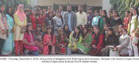 Sindh Agriculture University students visit Punjab University