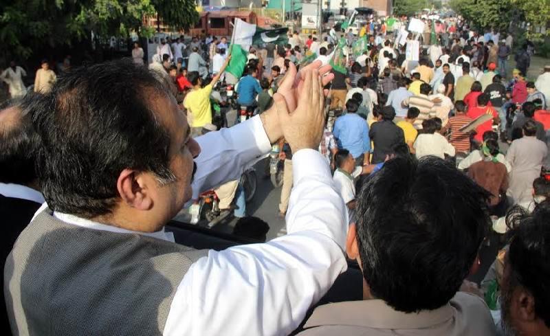 Rana Mashud leading rally from Gulshan Ravi.jpg